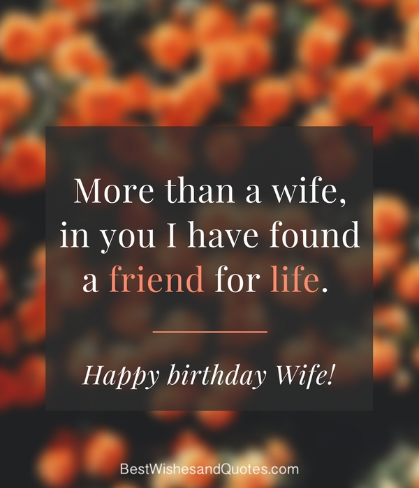 Happy Birthday Wife Say Happy Birthday With A Lovely Quote