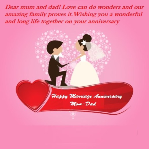 25th Wedding Anniversary Gifts For Mum And Dad: Happy Marriage Anniversary Wishes For Mom Dad