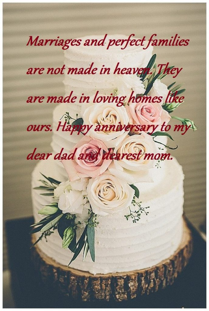 Happy Wedding Anniversary Cake For Mom And Dad Best Wishes