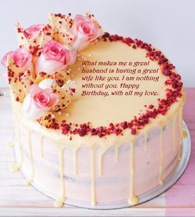 Birthday Cake Greeting Images For Wife Best Wishes