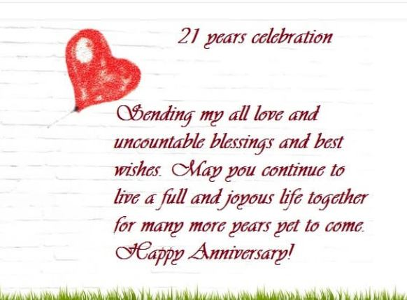 Happy 21st Marriage Anniversary Wishes Images Quotes Quote Hil