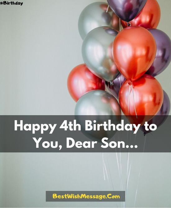 Happy 4th Birthday Son : happy, birthday, Happy, Birthday, Wishes, Greetings, Messages