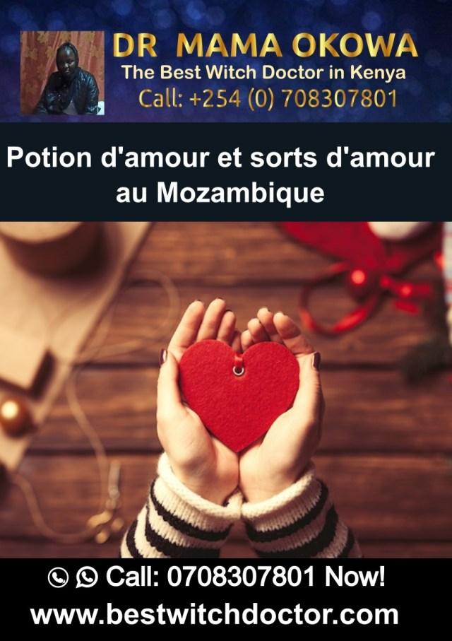 Potion d'amour et sorts d'amour au Mozambique