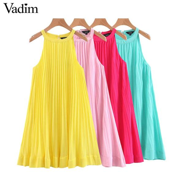 Women Mini Sleeveless Dress