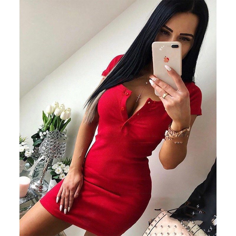 Summer Dress Sexy Sheath Mini Dresses Bodycon Dress