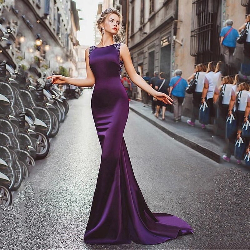 How to Wear a Purple Dress