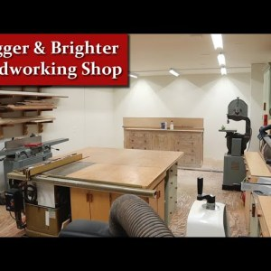 A Bigger Brighter Woodworking Shop - Wood Shop Expansion Update