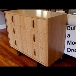 Build a Modern Dresser, Start to Finish - Jon Peters Woodworking Short