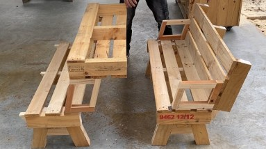 Smart Ideas to Recycle Used Wood Pallets | Build Folding Furniture With Only Simple Tools
