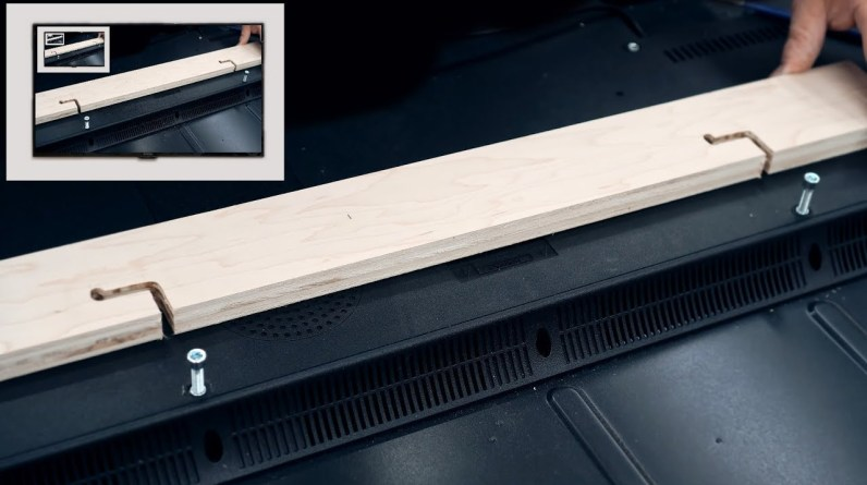 Easy To Make Locking TV Mounting Bracket