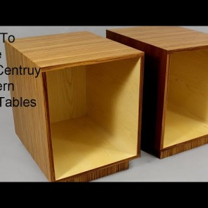 How to Build Mid Century Modern End Table