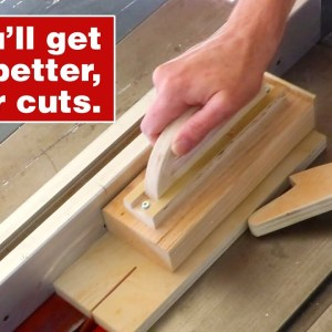 How to make a push block. Essential woodworking jig and shop project.