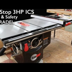 SawStop 3 HP Industrial Cabinet Saw Unboxing & Assembly