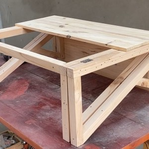 Design Ideas For Small Spaces - Folding Computer End Side Desk or for 4-person Dining Table Use