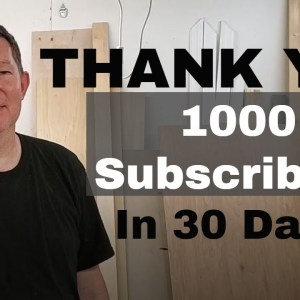 Thank You! 1000 Subscribers In 30 Days!