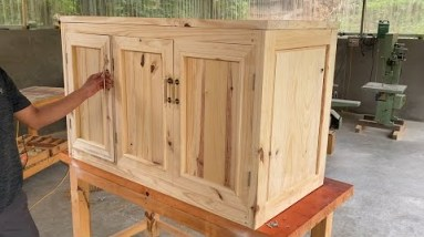 Amazing Interior Woodworking Project // How to Build a Kitchen Sink Base - Kitchen Sinks