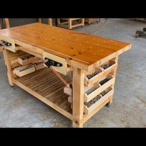 Restoring An Impressive Old Workbenches //  How To A Refinishing An Old Workbench