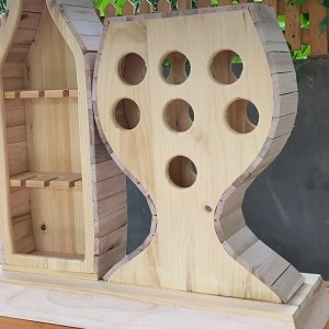 Inspiring Creative Woodworking Project // How to Build a Wine Rack for Bottles and Glasses
