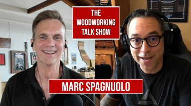 Marc Spagnuolo discusses YouTube Shorts and furniture design. The Wood Whisperer.