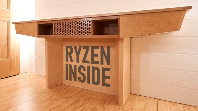 Not The First Desk with a Computer Inside, but Maybe the Coolest Looking - Full Build