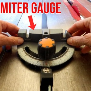 Get the most out of that horrid miter gauge that came with your tablesaw
