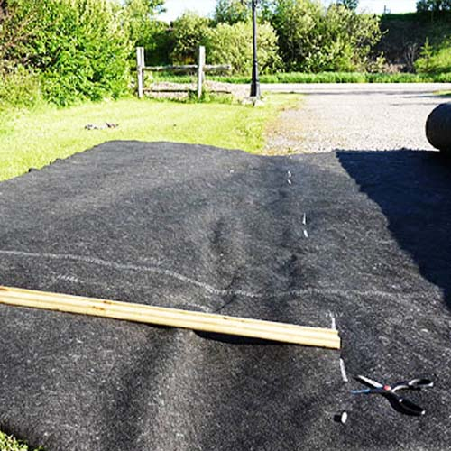 How to Cut Landscape Fabric