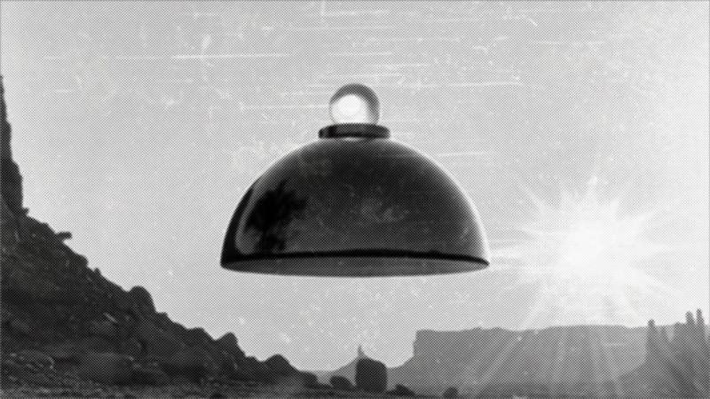 Adamski-UFO eine Lampe mit Öse?