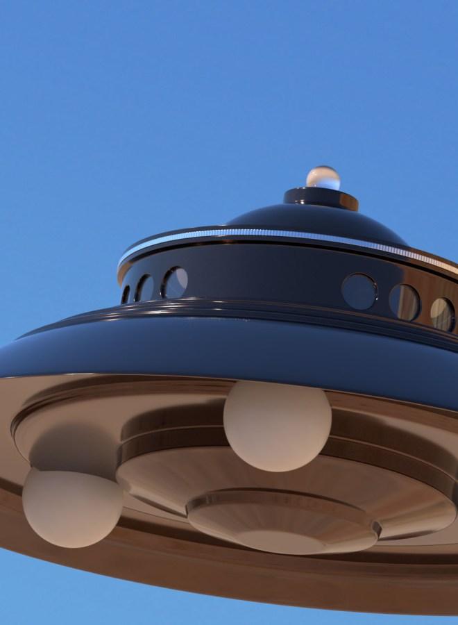 Dieses ist ein 3D-Rendering des Adamski-UFOs.