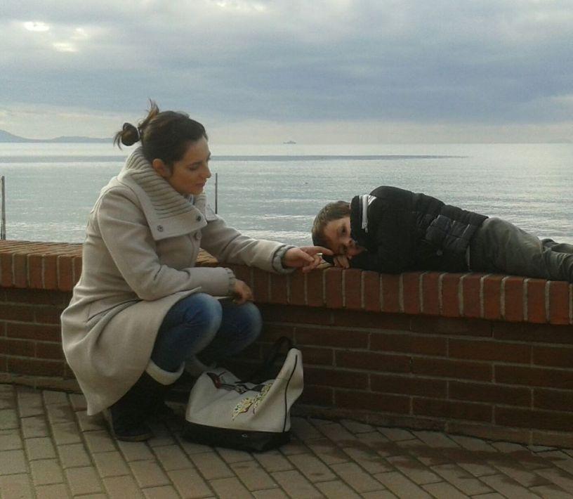 Mamma e Simone al mare 12 2014