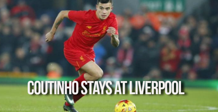 Coutinho stays at Liverpool