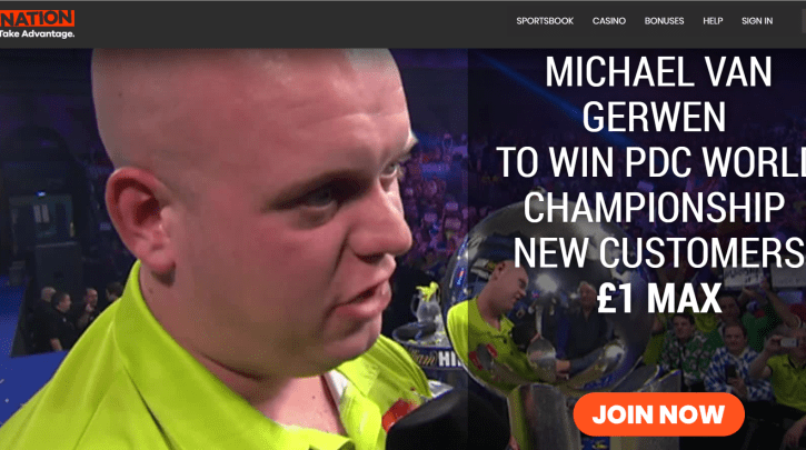 Martin Van Gerwen Odds at 33/1 to Win PDC Darts