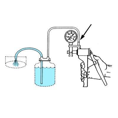 Cole-Parmer™ Corps en PVC, robinet en PTFE/Pompe à vide