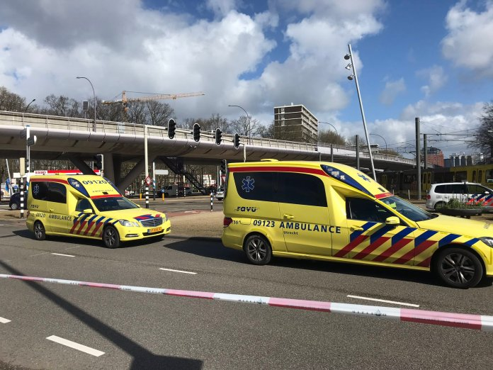 The gunman is said to have opened fire on a tram, leaving several people injured. Credit: Twitter/Martijn van der Zande