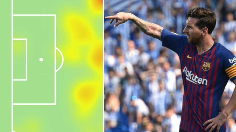 Lionel Messi's Heat Map Vs. Real Sociedad Highlights Problem For Barcelona