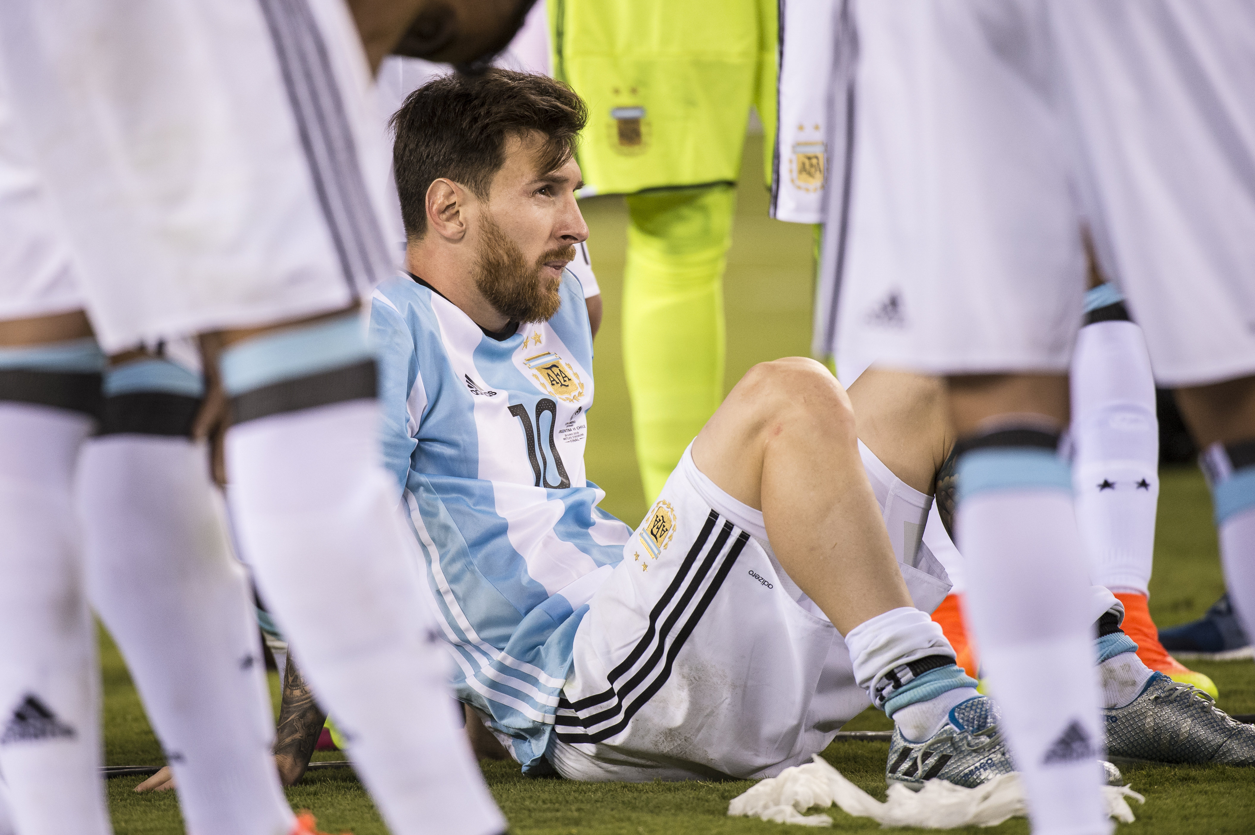 Messi after the Copa America final loss. Image: PA Images
