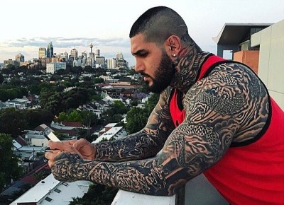Image result for The Tattooed Instagram Star Followed By Notorious Australian Biker Gangs
