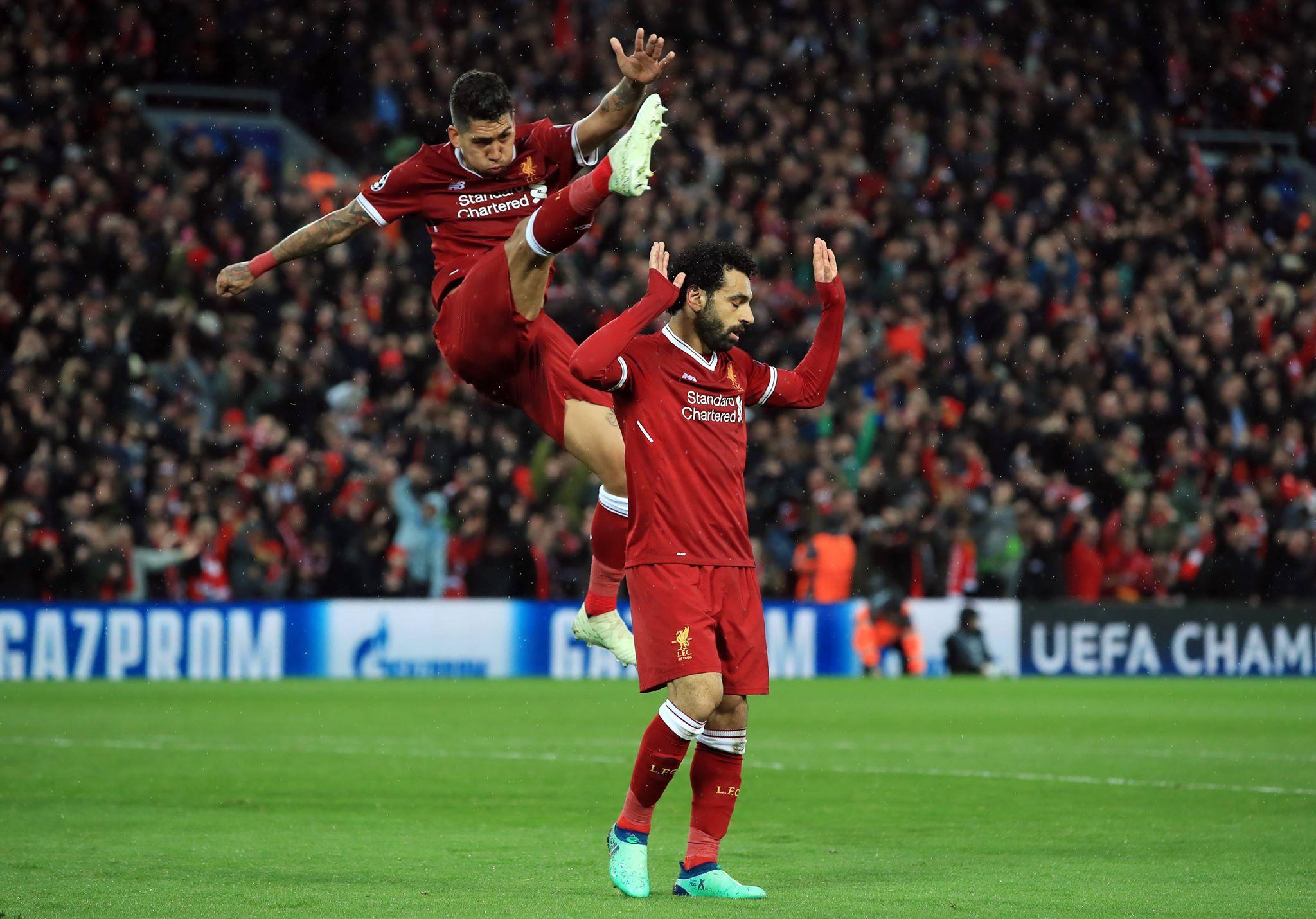 Salah doing Salah while 'Bobby' being 'Bobby'. Image: PA