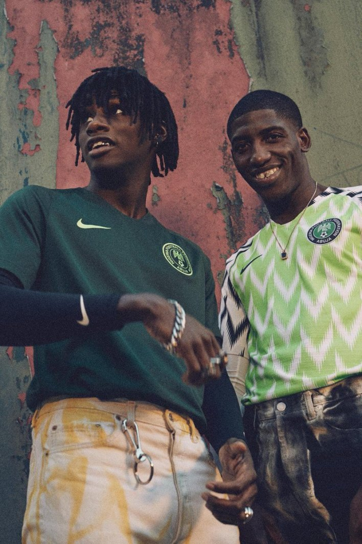More of Nigeria's 2018 World Cup range. Image: PA