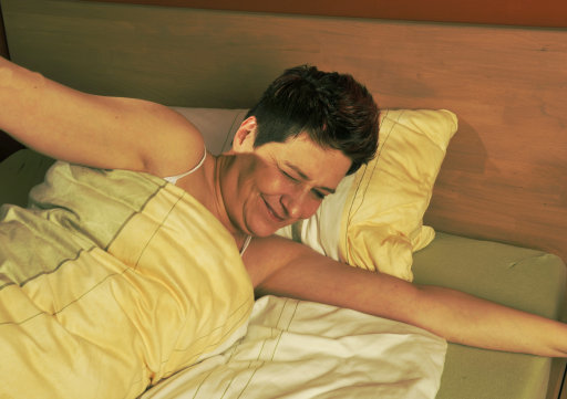 39 per cent of women would rather sleep alone. Credit: PA