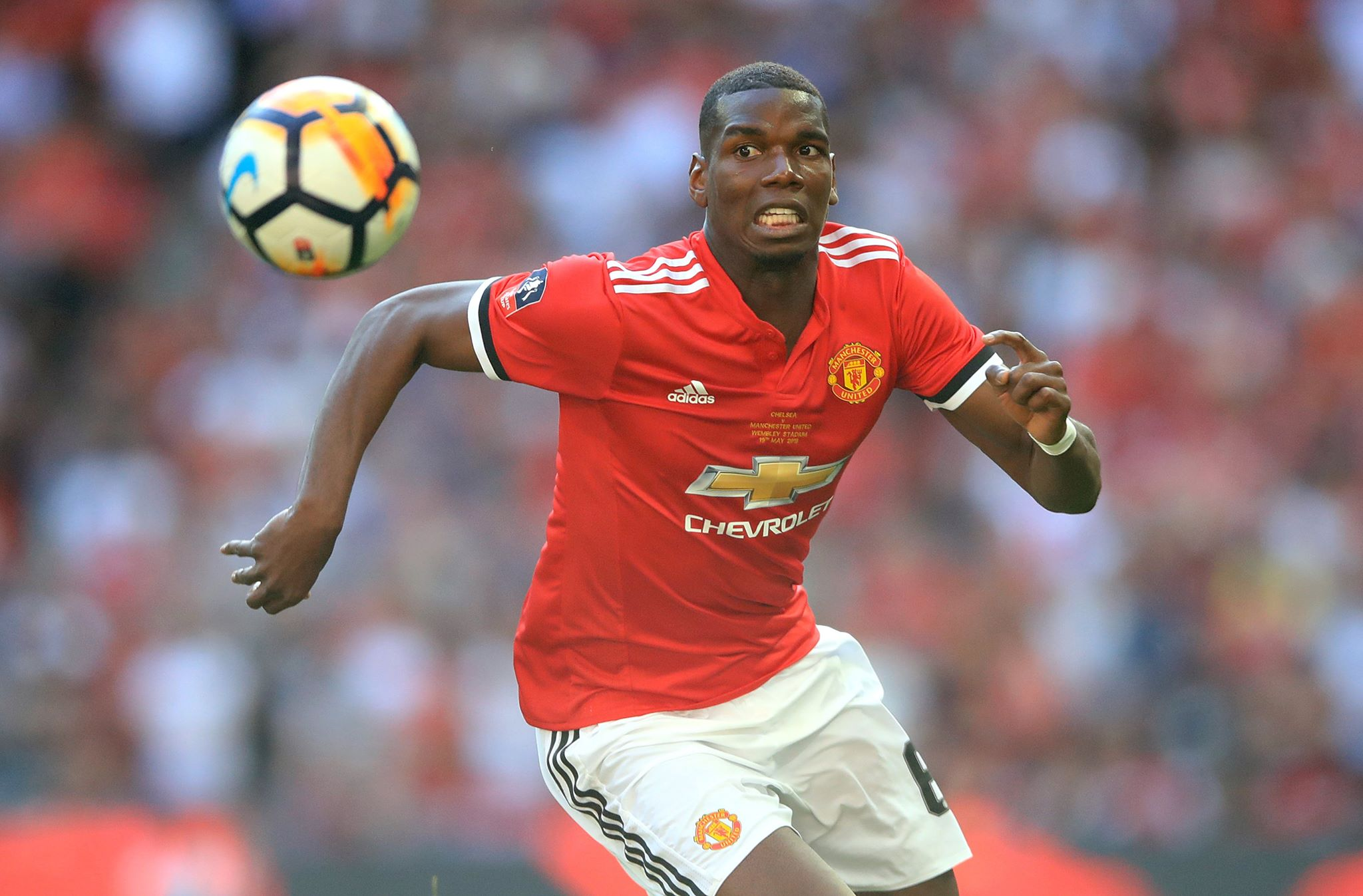 Pogba in action for United. Image: PA