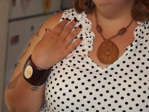 Wood jewelry