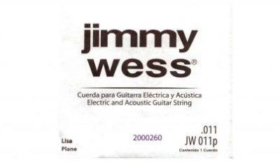 CUERDA 2DA JIMMY WESS PARA GUITARRA ELEC/ACUSTICA LISA