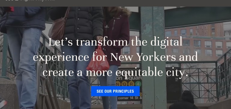 Statement of support for NYC's Digital Services Playbook
