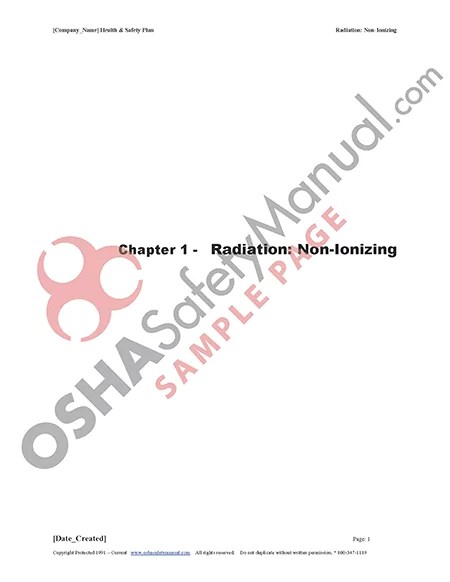 Osha Safety Manual | Radiation