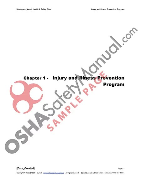 Download free Injury Illness Protection Program