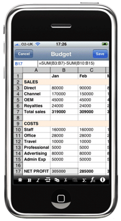 Finally, You Can Create Spreadsheets On Your iPhone | TechCrunch
