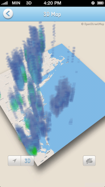 """3d Weather Map : weather, Mobile, Weather, Minutely, """"Correct"""", Weather,, Visualize, Storms, TechCrunch"""