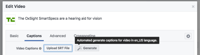 facebook adds automatic subtitling