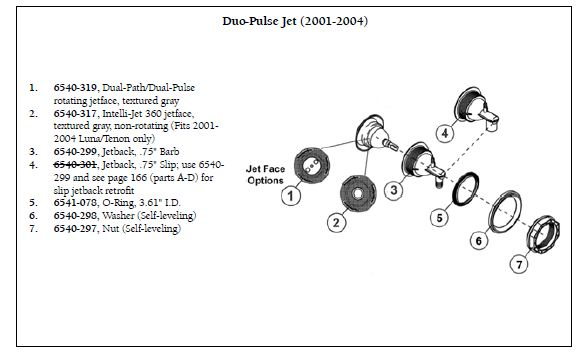 marquis spa parts diagram 2004 ford freestar wiring sundance dual path/ pulse jet face   the works