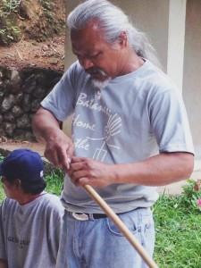 Dr. Beni Sokkong making a tongali